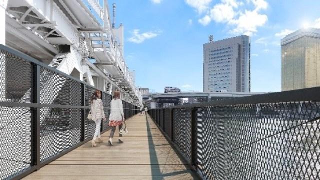 東京淺草要去晴空塔,以後可以用散步地過去
