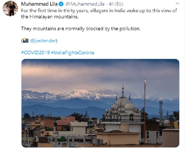 印度,喜馬拉雅山,空汙,新冠肺炎
