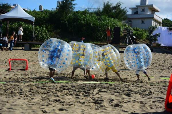 北海岸,白沙灣,沙灘,泡泡足球,AR