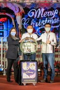 新北歡樂耶誕城,聖誕節,光雕秀,迪士尼,奇幻篇,公主篇,主燈