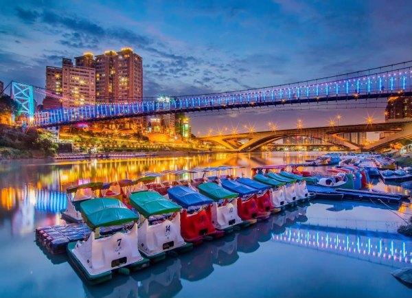 防疫升級,雙北三級,碧潭風景區,天鵝船