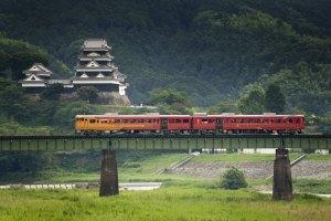 日本,四國,愛媛,觀光列車,伊予灘物語,秘境車站