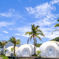 屏東枋山|海角露營度假時光 住進大冰屋帳篷睡醒就是藍天大海