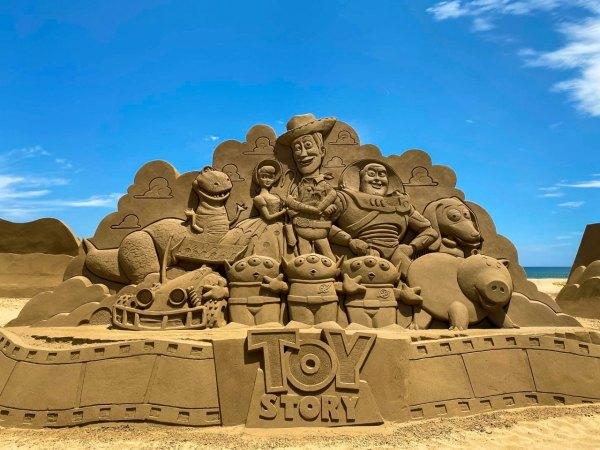 福隆沙雕,福隆沙灘,福隆海水浴場,福容大飯店福隆,皮克斯,迪士尼,玩具總動員