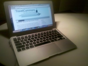 My MacBook Air on the desk of the Hyatt Grand Cypress in Orlando
