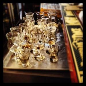 Empty Beer Glasses