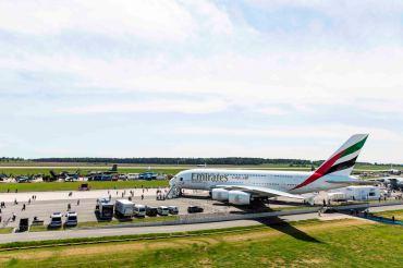 Flagowy samolot A380 Emirates na ILA Berlin Air Show 2016