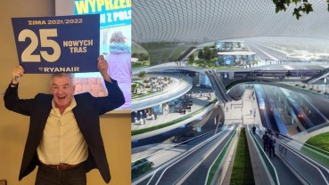Prezes Ryanaira krytykuje CPK