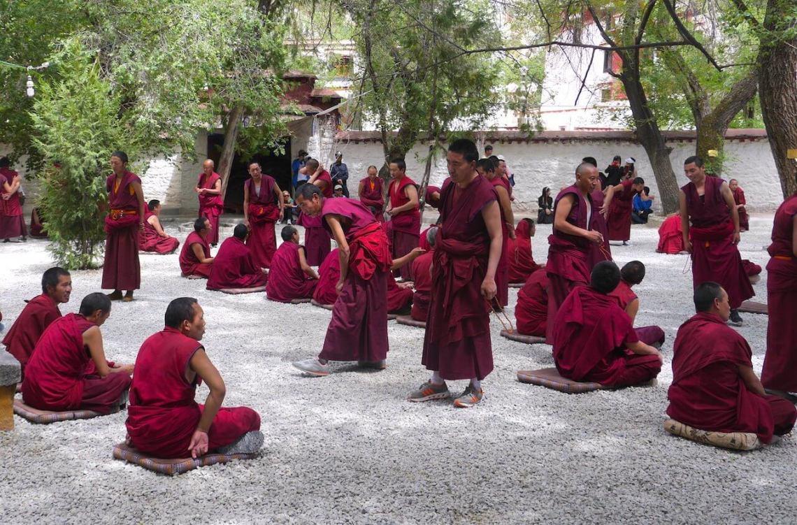 Tibet 4 day lhasa tour sera monastery monks