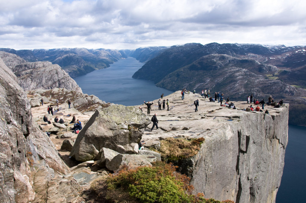 Pulpit Rock, above the Lysefjord, Norway, picture by L.C. Nottaasen