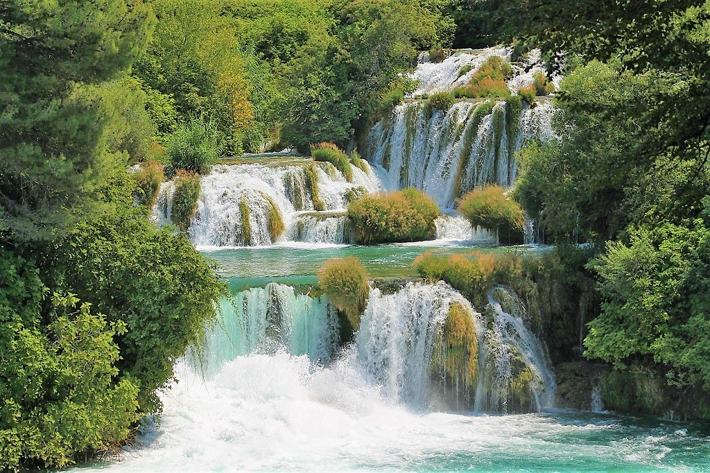One of the 7 waterfalls at Krka National Park in Croatia