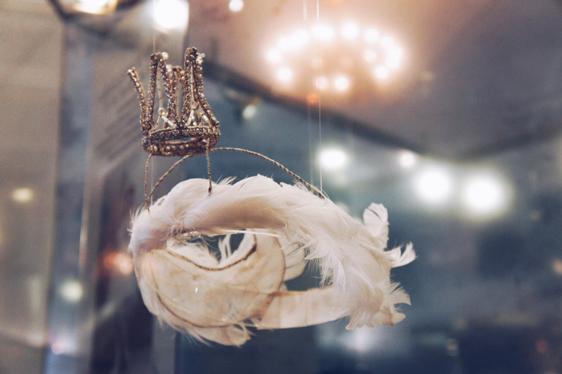Crown of the Swan Princess.  From the collection of the Museum of Theatre and Music in St. Petersburg, Russia