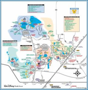 WDW Resort Map