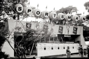 Sportsman stand at the Royal show