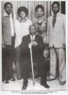 Champion of democracy Oginga Odinga poses with: (L-R) Son Odima, daughter Wenwa Akinyi, daughter in-law Ida and son Raila Odinga