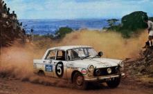 14th East African Safari Rally 1966 winning driver/ co-driver Bert Shankland & Chris Rothwell