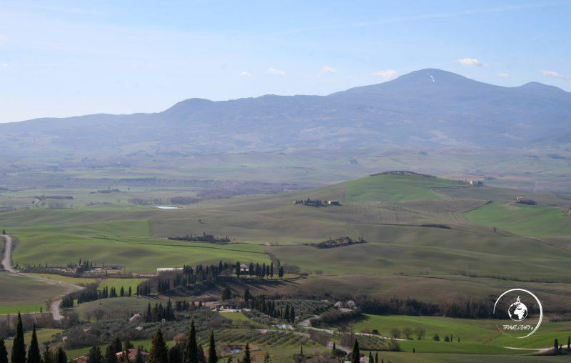 Itinerario in Val d'Orcia, panorama da Pienza