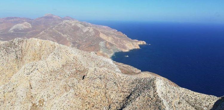 Panorama ad Anafi, nelle Cicladi