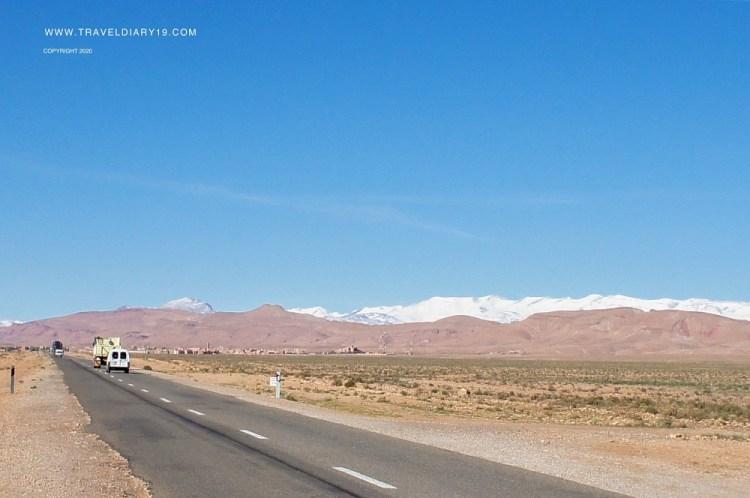 Strada nel deserto Marocco