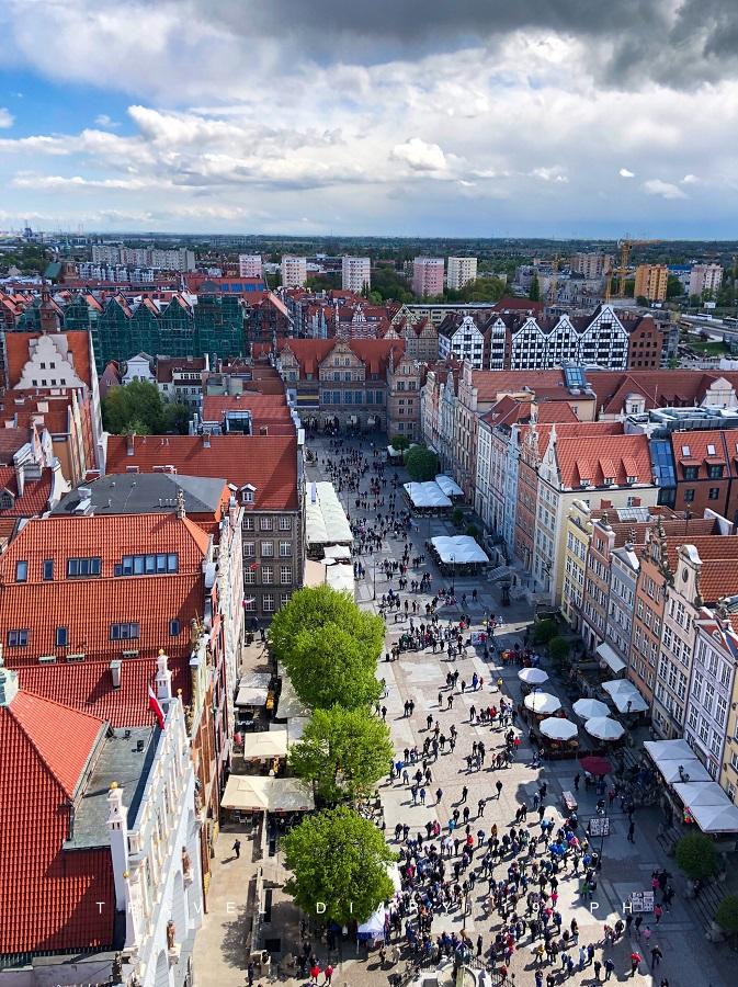 Danzica, panorama dalla torre del municipio