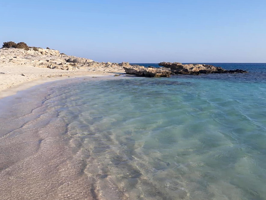 Il mare di Karpathos nel Dodecanneso