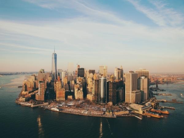 Foto dal drone di Manhattan