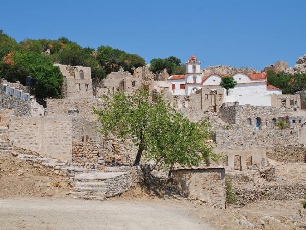 Villaggio di Megalo Chorio a Tilos