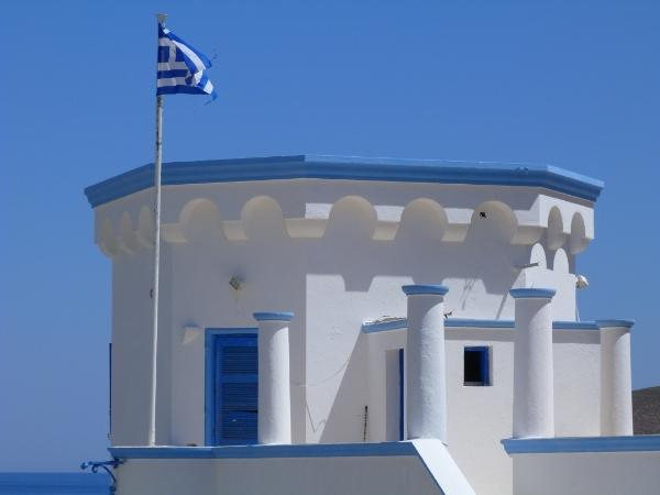 Bandiera della Grecia a Tilos