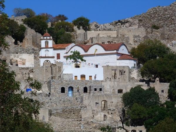 Megalo Chorio a Tilos, isola del Dodecaneso