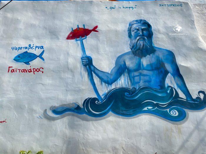 Zues, la mitologia sui muri di Kitries