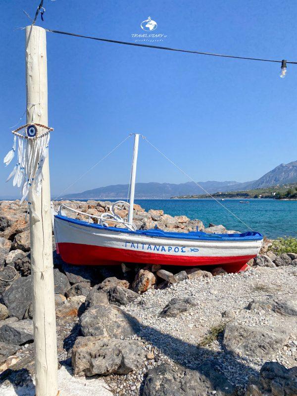 Barca sulla spiaggia di Kitries