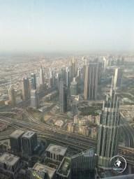 Skyline nella nebbia di Dubai