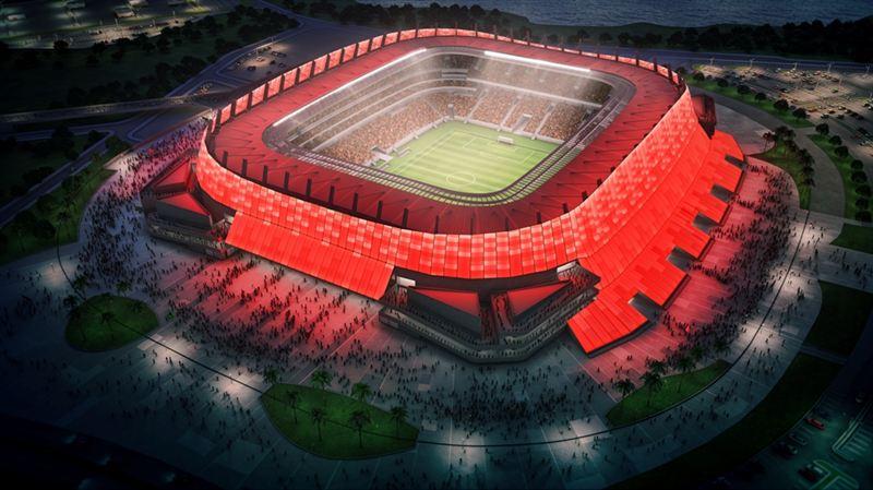Allianz Arena High Tech Stadium With Stunning