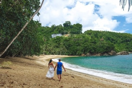 Englilshman`s bay in Tobago- one of the top things to see in Tobago