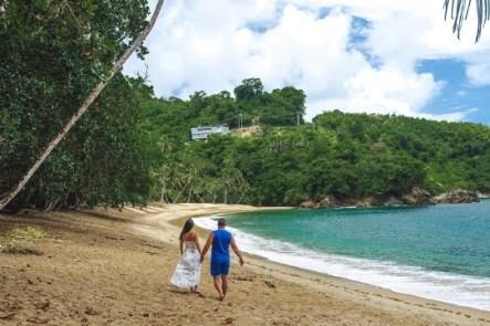 Englilshman`s bay in Tobago