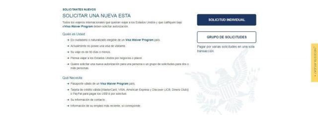 Cómo conseguir el ESTA para viajar a los EEUU