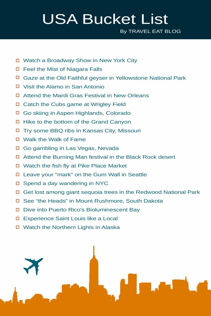 USA Bucket List - Unique Places to Visit in America