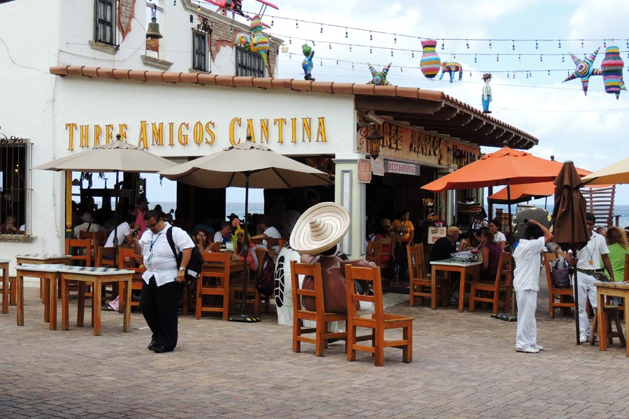 Tres Amigos at the Cozumel Pier