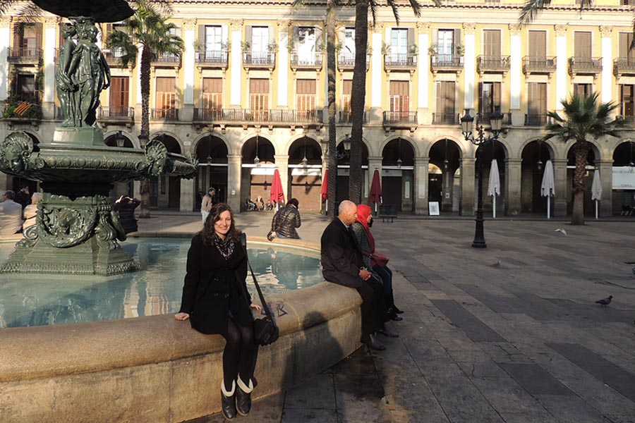 What First Week Abroad Feels Like Fountain Barcelona