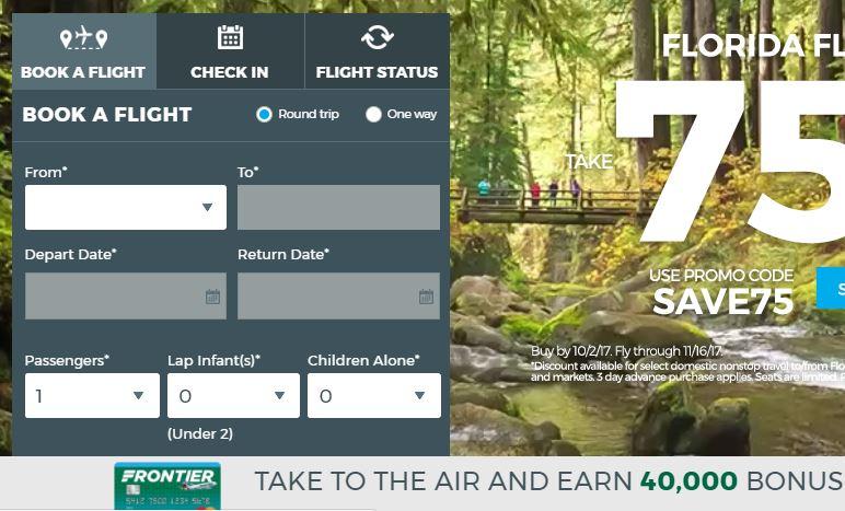 Frontier Airlines Website