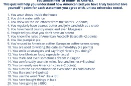 A Quiz for International Students Living in the USA - How Americanized Are You?