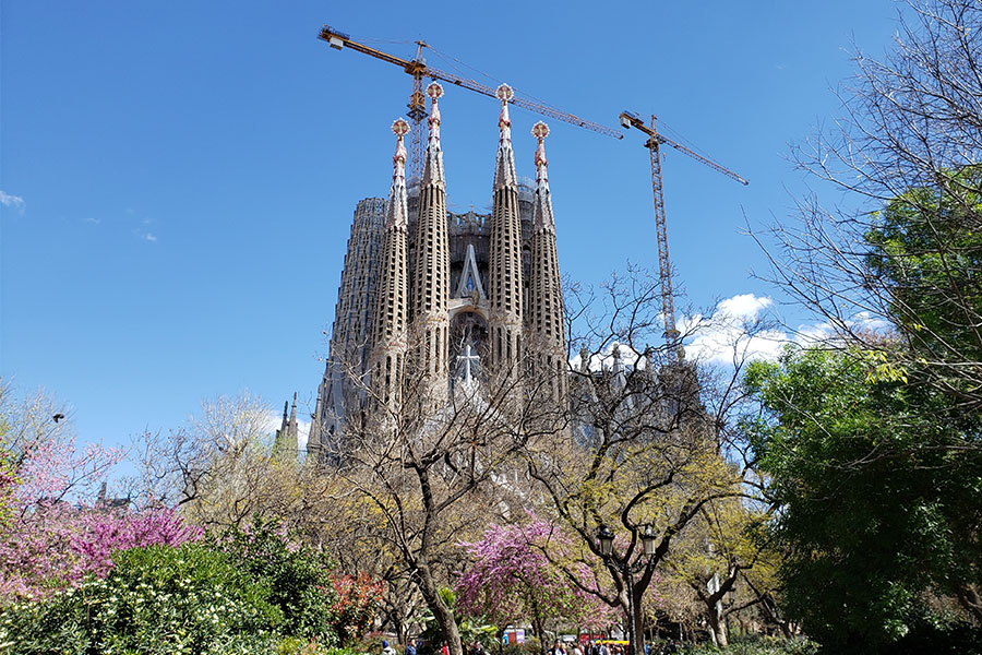 Sagrada Familia by Gaudi in Barcelona