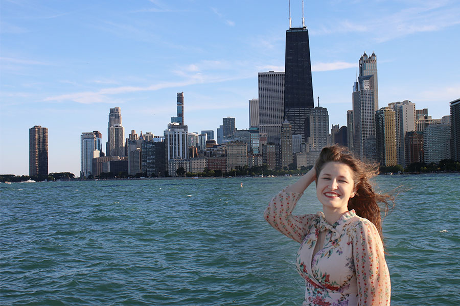 Go to a Scenic Spot and See Chicago Skyline