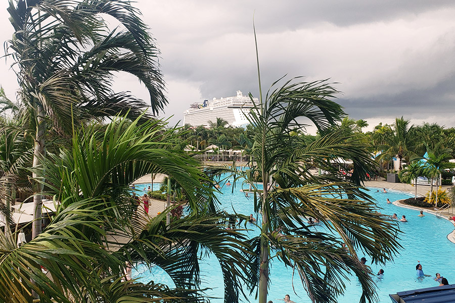 A huge pool at the Harvest Caye