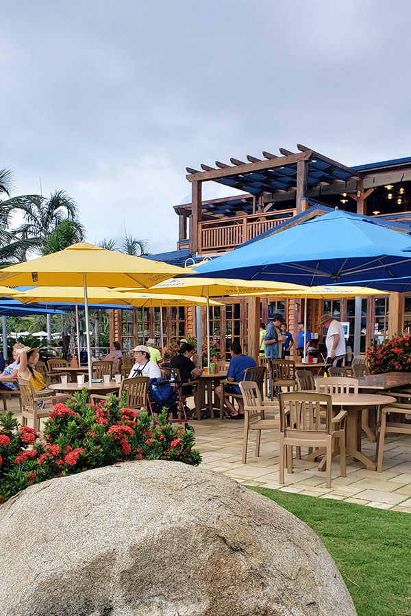 Food at Harvest Caye