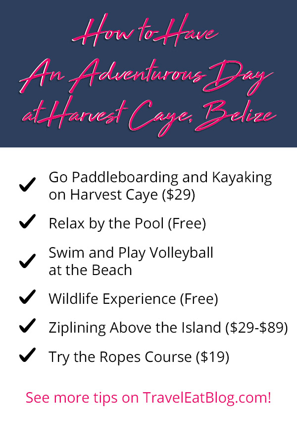 What to do at Harvest Caye