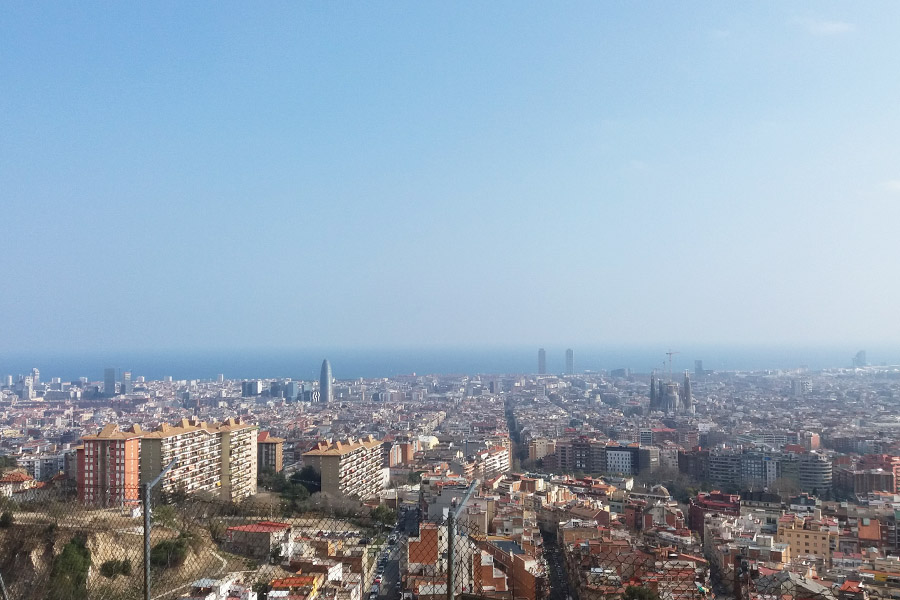Barcelona View from El Carmel