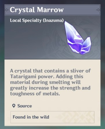 crystal marrow tatara tales purification device