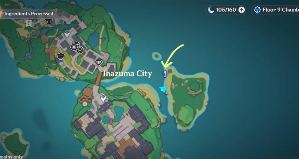 the seventh samurai world quest genshin location