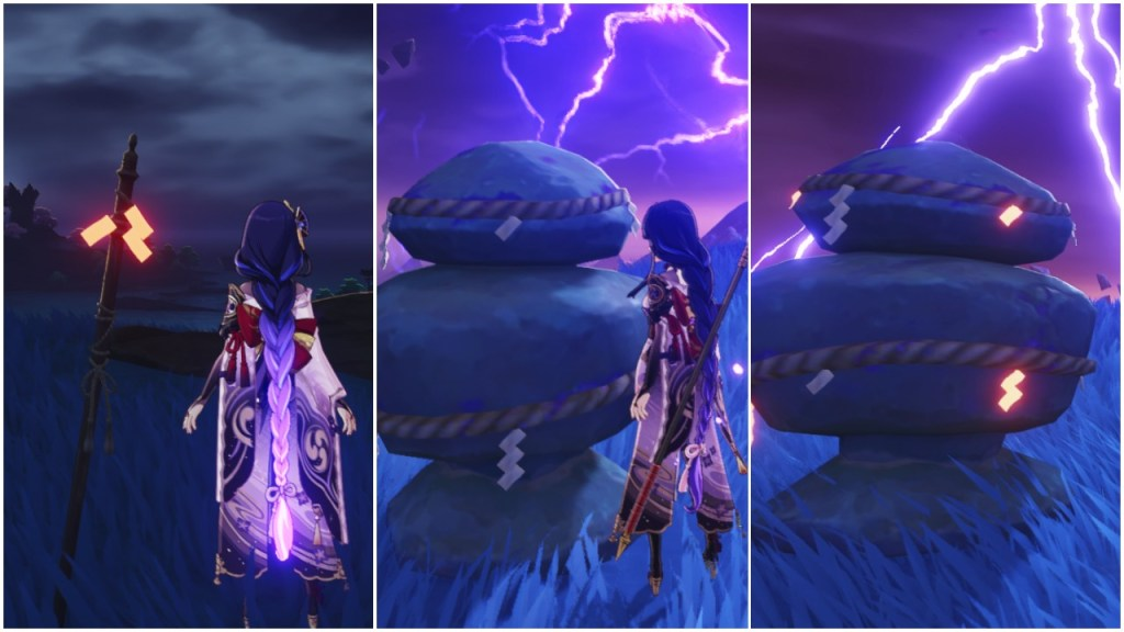 genshin impact seirai stormchasers part 1 warding stone inazuma world quest